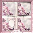 Cu Floral Papers and Frame