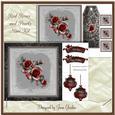 8x8 Red Roses & Pearls Mini Kit