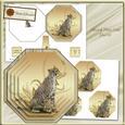 Cheetah Octagonal Plate Card Mini Kit