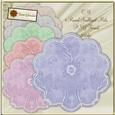 Cu 6 Floral Round Scalloped Mats