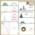 8 A4 Christmas Inserts Set 2