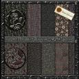 10 A4 Metallic Floral Papers