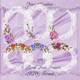 Cu 6 Floral Lace Frames