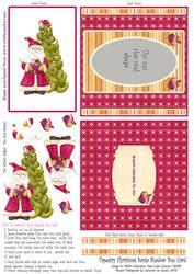 Tapestry Christmas Santa Shadow Box Card 3