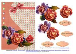 Orange & Lavender Roses
