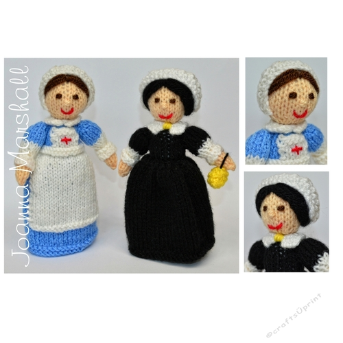 Free Knitting Pattern Nurse Doll : Doll Knitting Pattern - WW1 Red Cross Nurse & Florence Nightingale Nurse ...