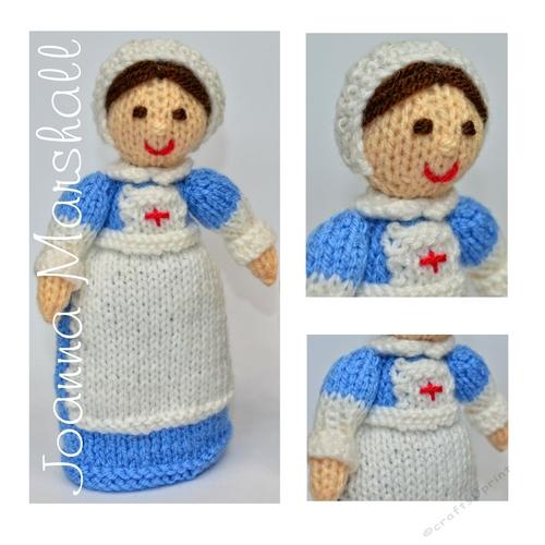 Doll Knitting Pattern - WW1 Red Cross Nurse Doll - CUP744087_1712 Craftsuprint
