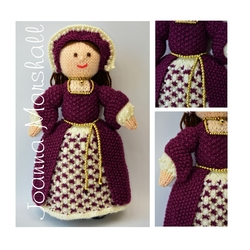 Doll Knitting Pattern - Catherine - a Tudor Doll - 1546