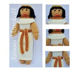 Doll Knitting Pattern - Menet - an Egyptian Princess Doll