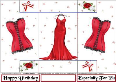 Tri-fold Red Ladies