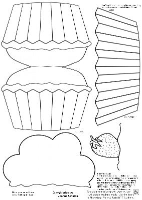 Cupcake Shaped Card/template - CUP73680_470 | Craftsuprint