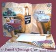 3 Panel Vintage Car Card