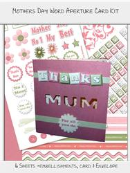 Mothers Day Word Aperture Card Kit