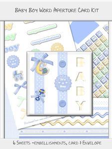 Baby Boy Word Aperture Card Kit