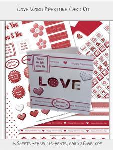 Love Word Aperture Card Kit