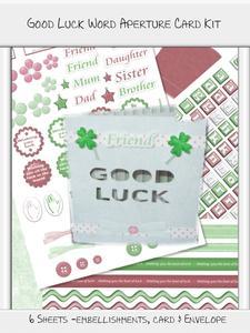 Good Luck Word Aperture Card Kit