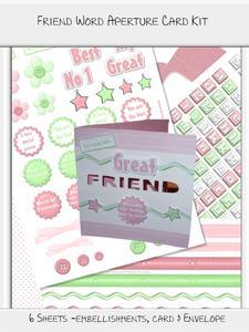 Friend Word Aperture Card Kit