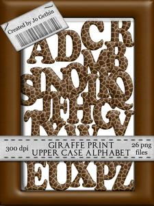 Giraffe Print Alphabet Upper Case