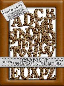 Leopard Print Upper Case Alphabet