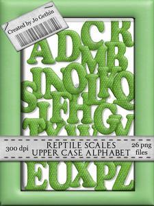 Reptile Skin Upper Case Alphabet