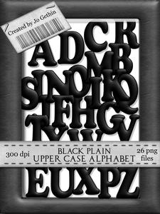 Black Plain Upper Case Alphabet