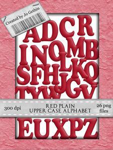 Red Plain Upper Case Alphabet