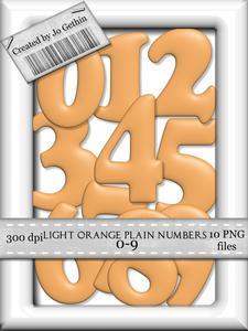 Light Orange Plain Numbers