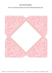 Pink and Grey Mini Easel Card Envelope Pink