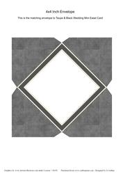 Taupe and Black Check Mini Easel Card Black Check Envelope