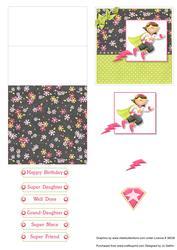 Super Girl Mini Easel Card V2
