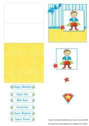 Super Boy Mini Easel Card