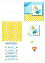 Super Boy Mini Easel Card V2