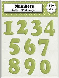 Khaki Plain Numbers