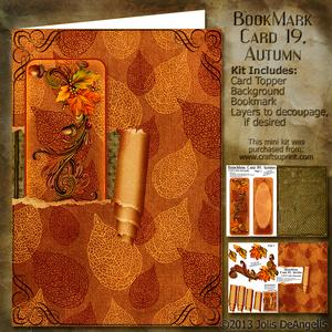 Bookmark Card 19, Autumn