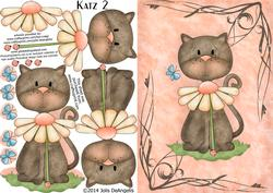 Katz 2, A5 Step by Step Card