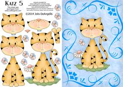 Katz 5, A5 Step by Step Card