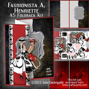 Fashionista A, Henriette A5 Foldback Card Mini-kit