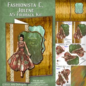 Fashionista C, Jolene, A5 Fold-back Card