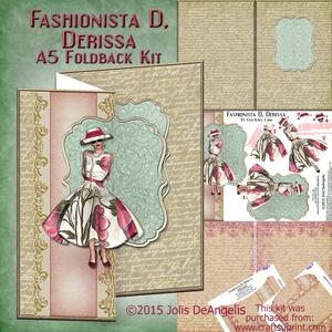 Fashionista D, Derissa, A5 Fold-back Card