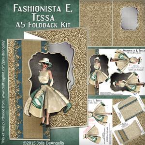 Fashionista E,tessa A5 Foldback Card