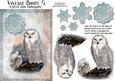 Vintage Birds 5, Snowy Owl