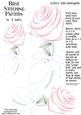 Rose Stitching Pattern in 3 Sizes