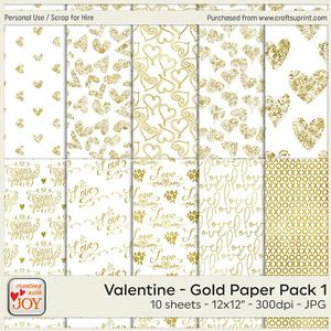 Valentine - Gold Papers 1