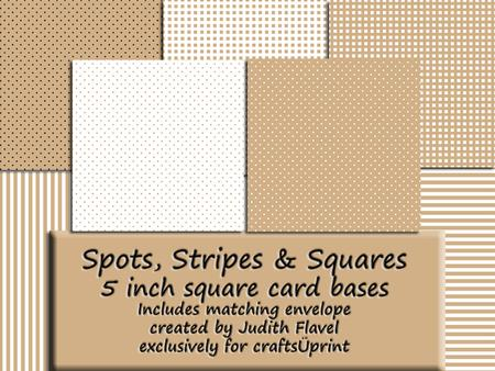 Spots, Stripes & Squares - Coffee