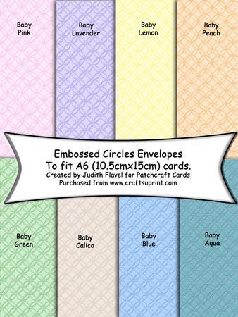 C6 Envelopes - Embossed Circles - Pastel