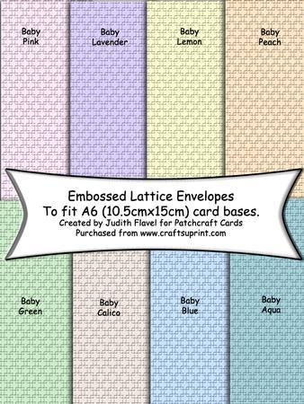 C6 Envelopes - Embossed Lattice - Pastel