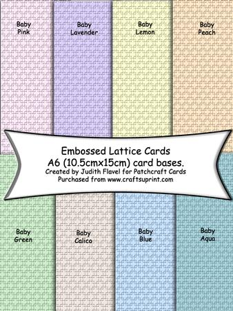 A6 Card Bases - Embossed Lattice - Pastels