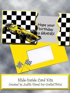 Slide-inside Racing Car Yellow