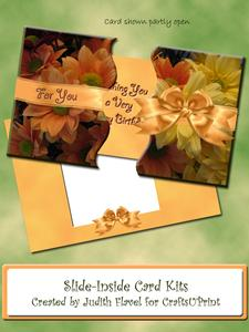 Slide-inside Chrysanthemums & Ribbons