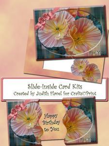 Slide-inside Pink & Yellow Flowers